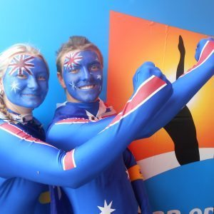 Australian Flag Adult Face Paint