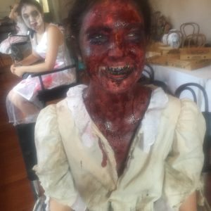 Bloody face Special Effects Makeup