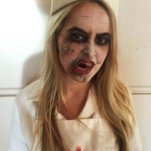 Halloween gory makeup