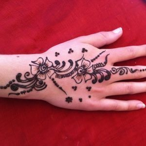 Henna Tattoo Hand Art