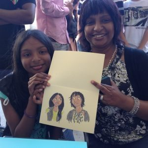 Mum & Daughter Caricatures