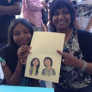 Mum & Daughter Caricatures
