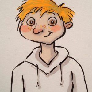 boy caricature