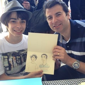 father & son caricature