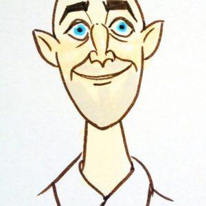 male caricature