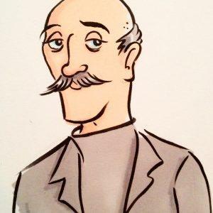 older man caricature