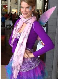 Face Painter Shelley as a Fairy!