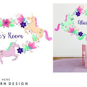 Floral Unicorn- Mural Design