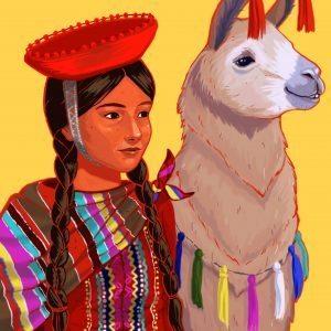 Girl & Lama