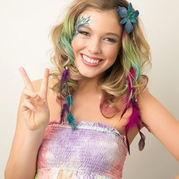 face-painting-colour-hair-extensions