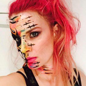 Abstract halloween makeup