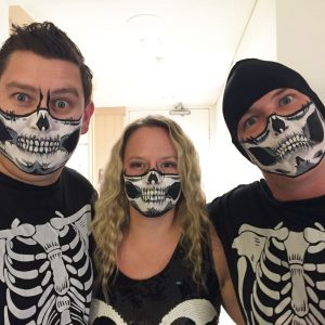 Awesome halloween skull face paint