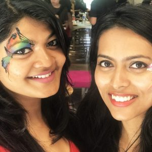 Eye face painting designs