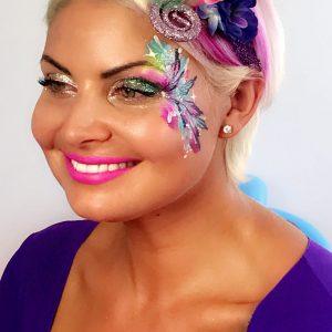 Glitter Eyes & face art