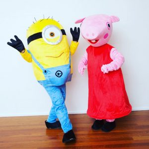 Mascots, minions & Peppa hanging out