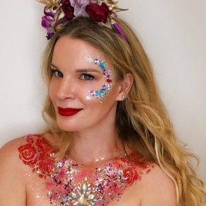 Glitter festival art