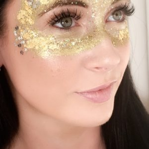 Masquerade Glitter art